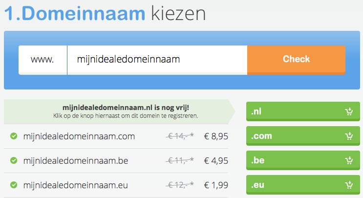 domeincheck en registratie van een domeinnaam